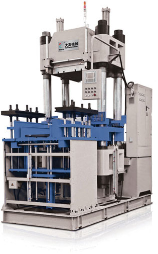 Large vulcanizing machine